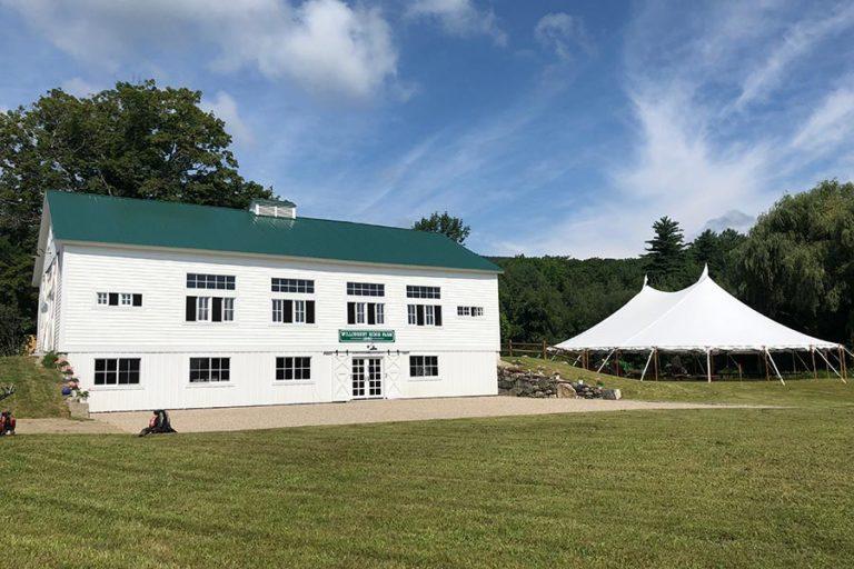 Wedding barn and wedding tent exterior